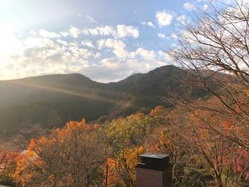 晩秋の箱根の空
