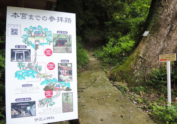 伊豆山神社本宮までの参拝路