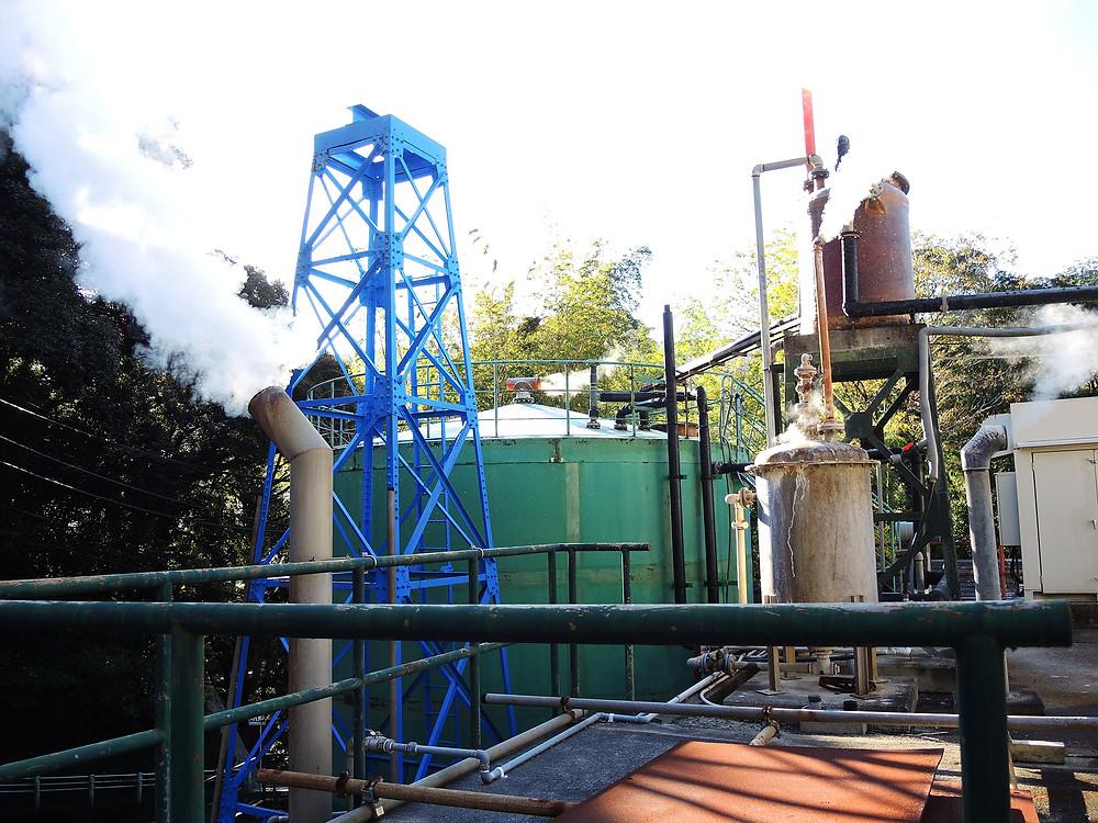 熱海市営来の宮温泉の源泉設備