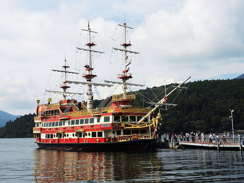 元箱根芦ノ湖の箱根海賊船