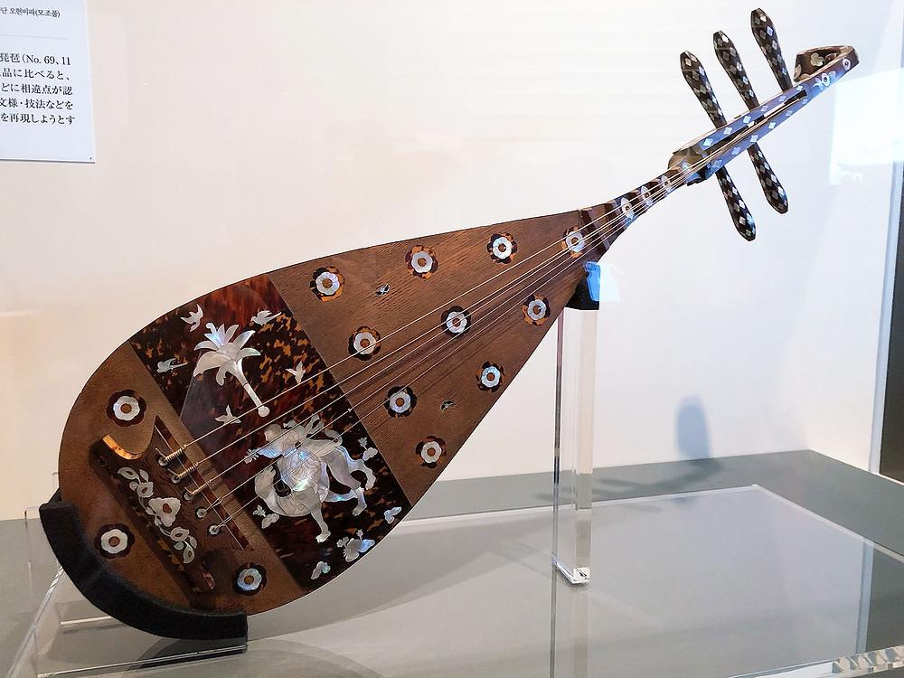 国立博物館の螺鈿紫檀五絃琵琶