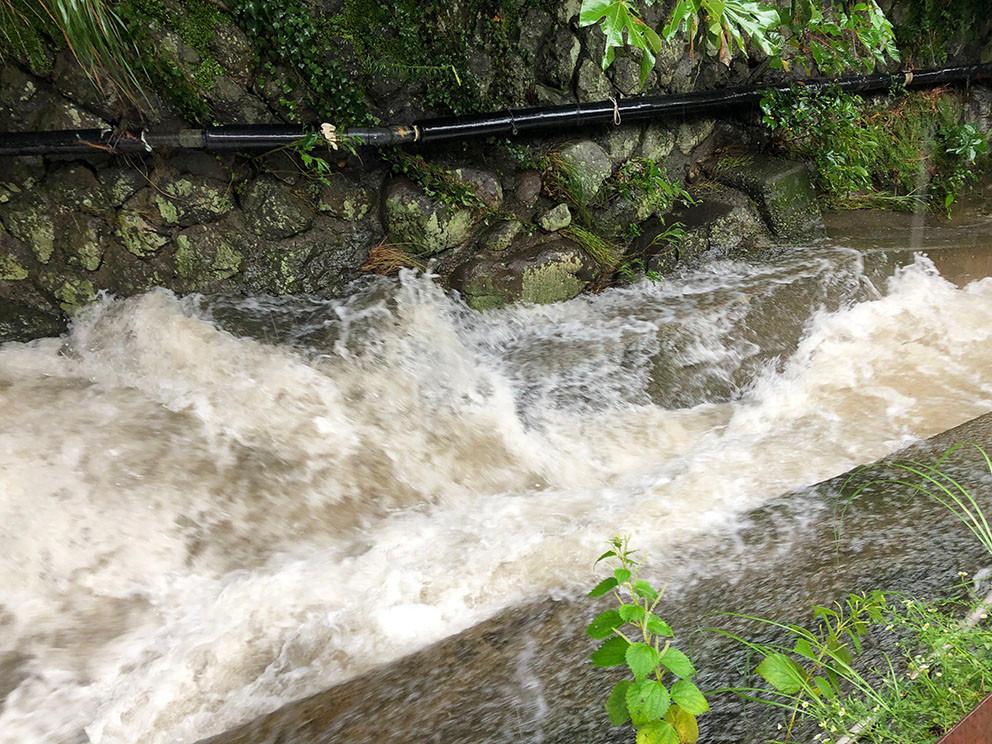 熱海糸川増水
