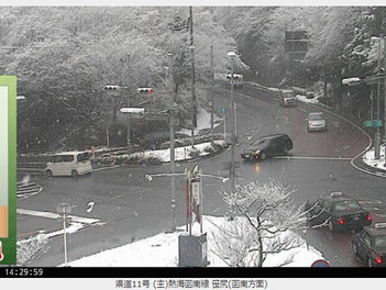 雪の日に役立つウェブカメラ