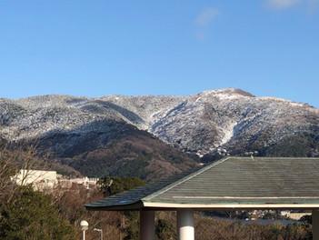 熱海の山の雪化粧