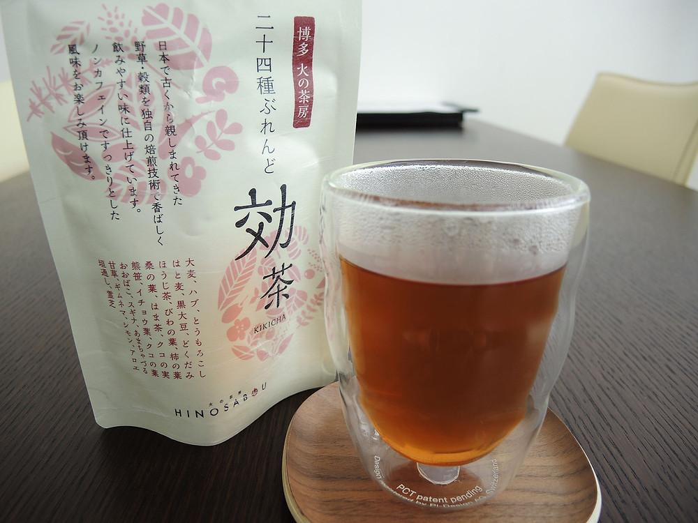 博多火の茶房24種ブレンド効茶はホットでもアイスでも美味しい