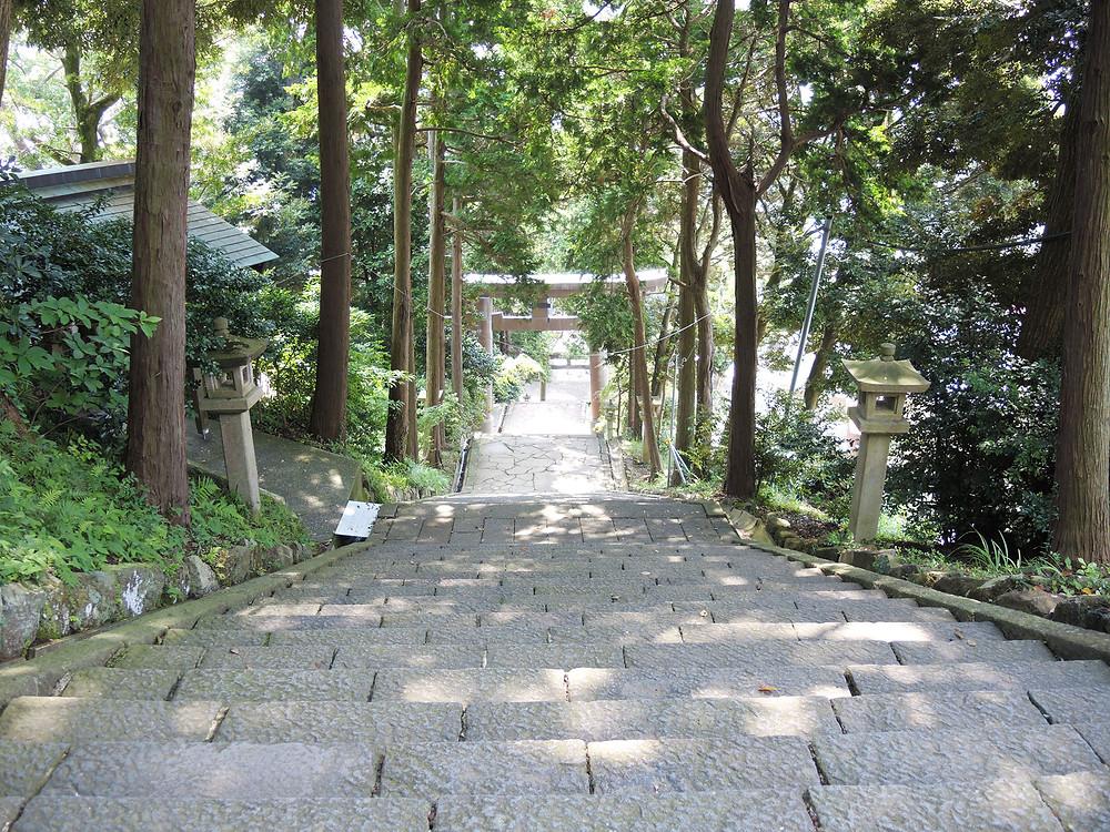 熱海伊豆山神社参道階段