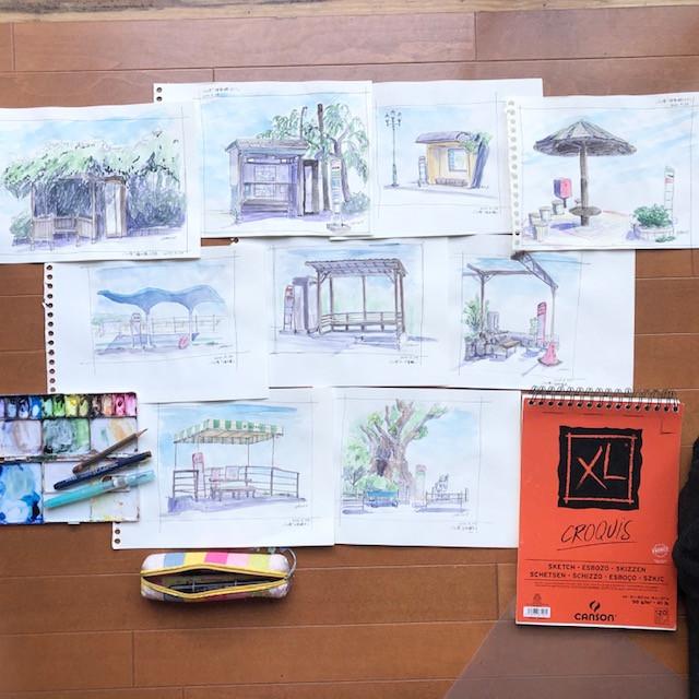 熱海の水彩画教室が始まります