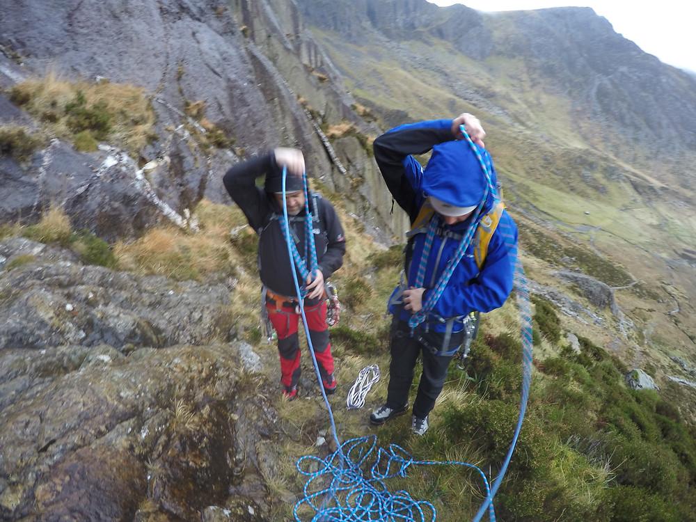 Shortening the rope