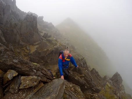 Wet Day on Crib Goch
