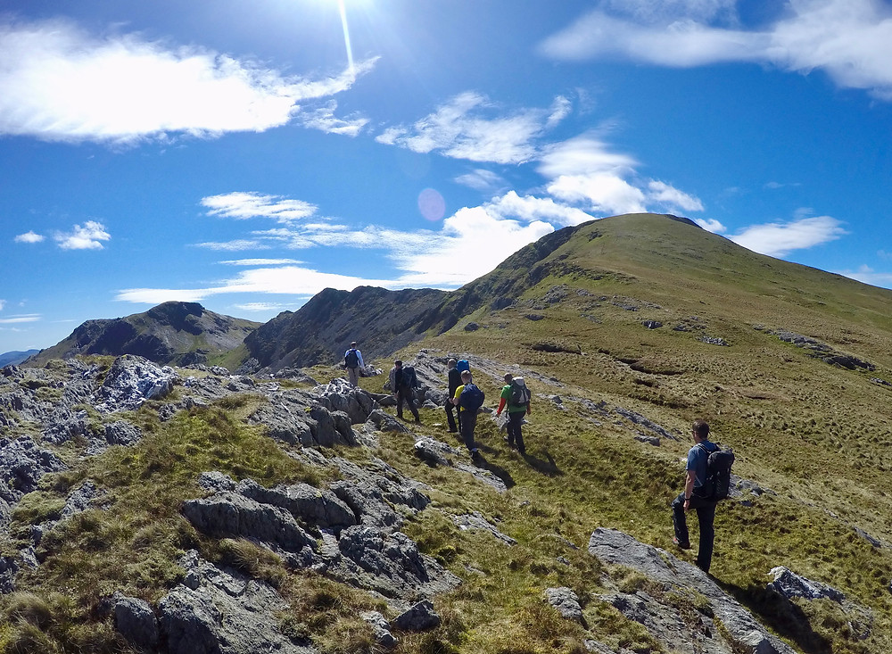 On our way up Moelwyn Mawr