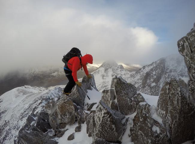 Winter on Y Gribin Ridge