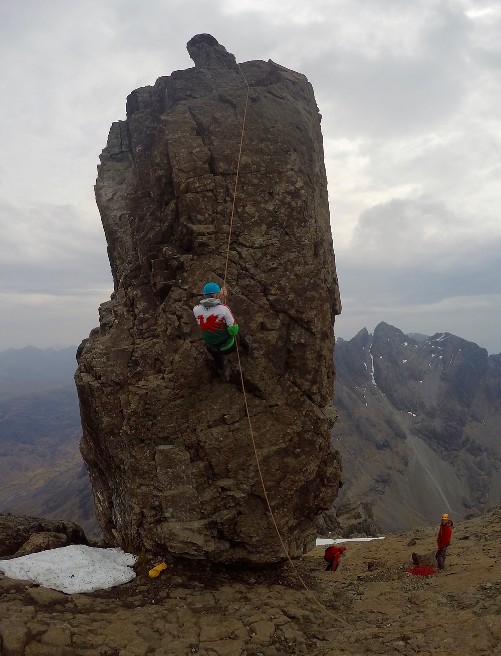 Abseiling off the In Pinn