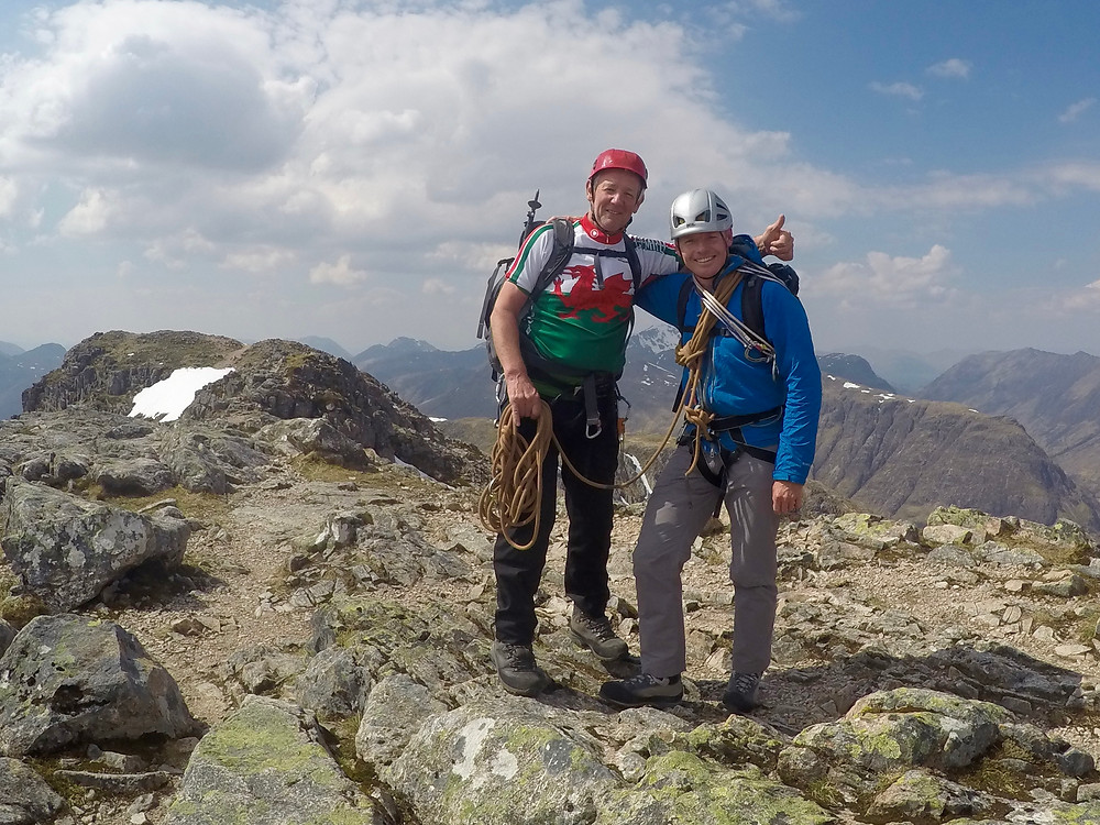 Summit of Stob Dearg after 3 great days in the Highlands.