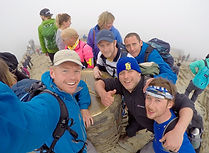 Summit of Snowdon after completing 14 Peaks