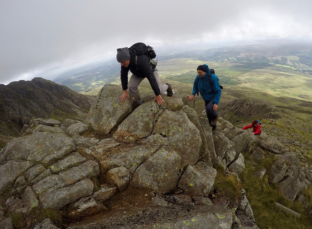 Fun scrambling on the Daear Ddu Ridge Moel Siabod
