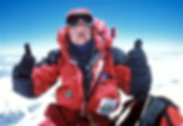Rusty Bale on the summit of Everest, 22 May 2001