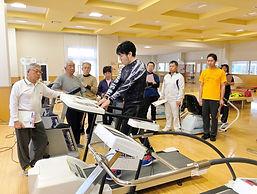 運動施設の使い方説明