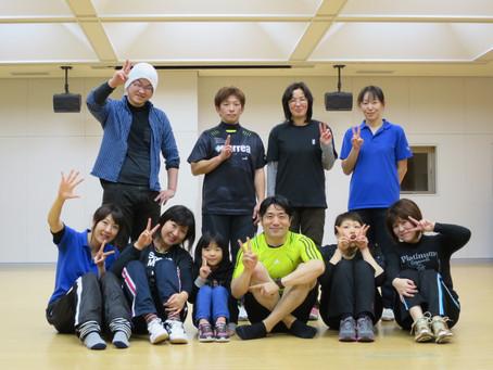スポーツクラブにて研修、そして町の運動教室は最終日でした。