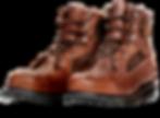 Brązowe skórzane buty
