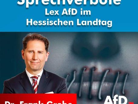 Sprechverbote - Lex AfD im Hessischen Landtag