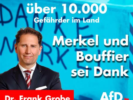 Über 10.000 Gefährder im Land, Merkel und Bouffier sei Dank!