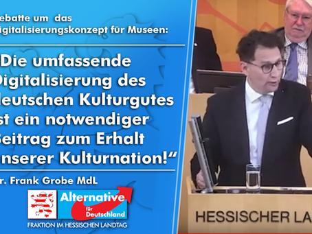 """VIDEO - Frank Grobe (AfD) """"Debatte um die Digitalisierung von Museen"""""""