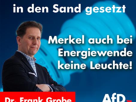 Merkel auch bei Energiewende keine Leuchte.