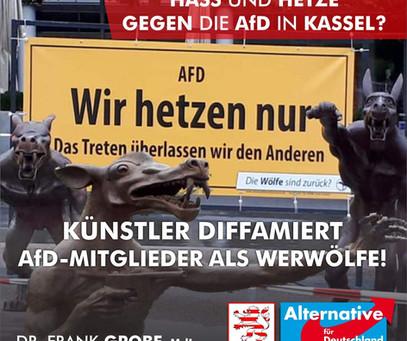 Künstler diffamiert AfD-Mitglieder als Werwölfe