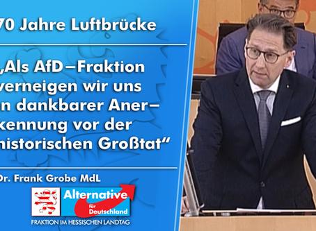 "VIDEO - Frank Grobe (AfD) ""70 Jahre Luftbrücke"""