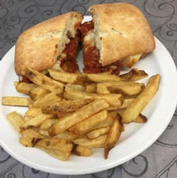 Veal Parmigiana Panini with Home Cut Fries
