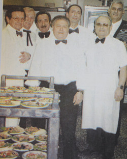 Servers for the Christmas party dinner to the ladies auxiliary of the club (2000)