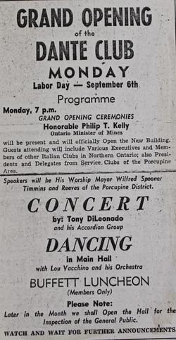 Grand Opening Dante Club
