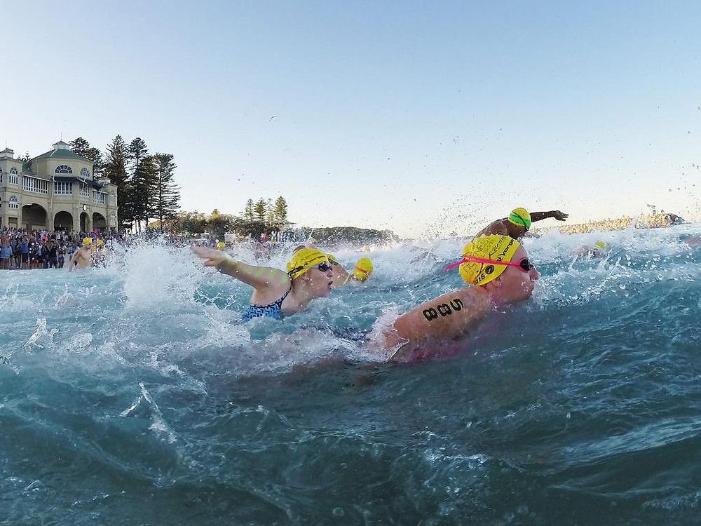 Rottnest Channel Swim Start