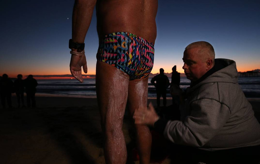 A good way to prevent hypothermia during the Rottnest Channel Swim is by rubbing vaseline or wool fat on to your body before the race. This prevents more heat escaping from your body in the water.