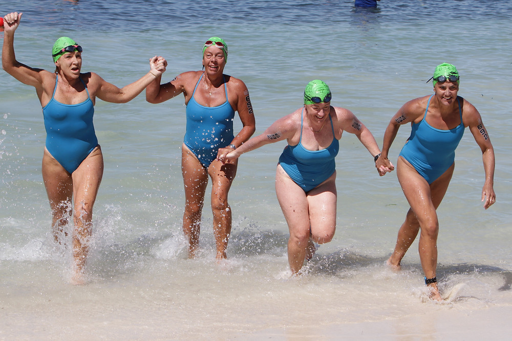 The finish line waiting for you at the end of the Rottnest Channel Swim is one of life's most euphoric moments! It is a great moment for every soloist, duo or team competing in one of the biggest open water swimming events in the world.