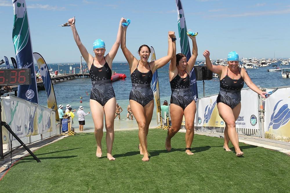 Rottnest Channel Swim Finish Line