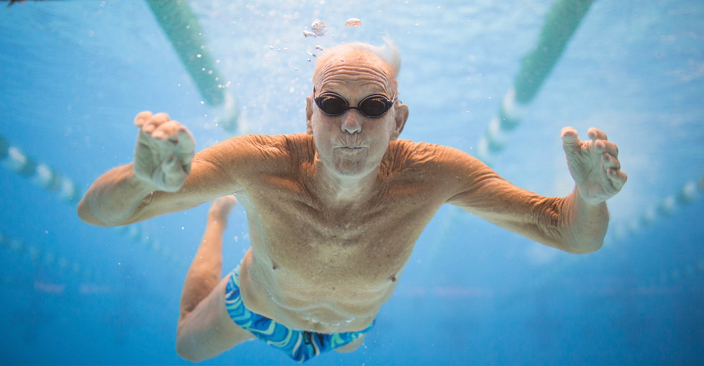 Swimming is found to positively affect bone mass density for those who may struggle with osteoporosis. Swimming can also greatly benefit the older population as it is a low-impact way of exercising the joints, ligaments and tendons of the body.