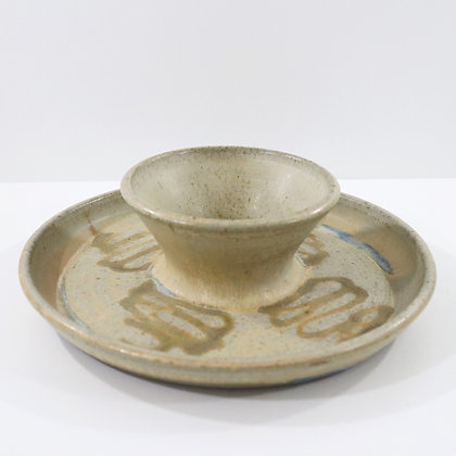 Handmade Plate with in Dip bowl / Soup Bowl