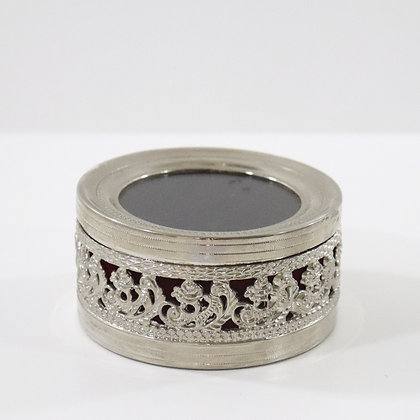 Silver Look with Red Cushion Jewellery box