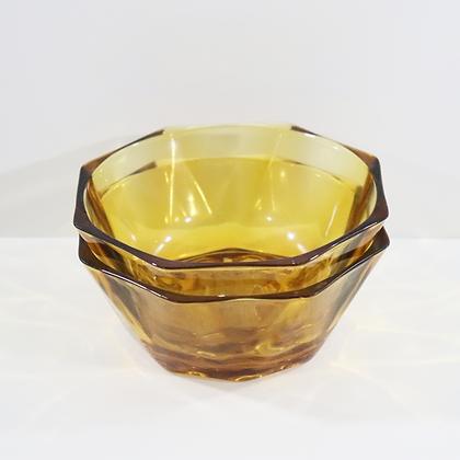 Set of 2 Amber Bowls