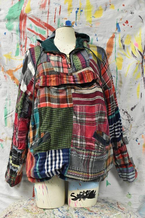 Reversible Green/Plaid hoodie