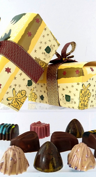 Caja para chocolate navidad