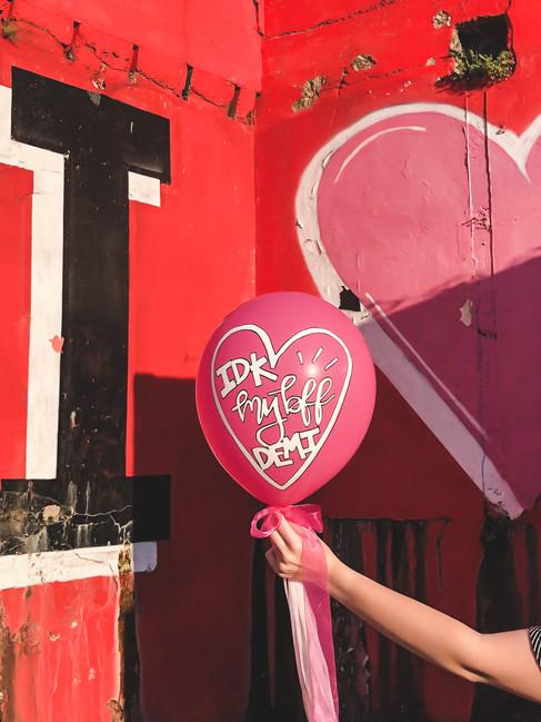 Handlettered Custom Event Balloon Bachelorette ABC