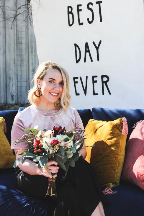 Boho Weddng Bridal Bride Florals Rentals Banner Backdrop