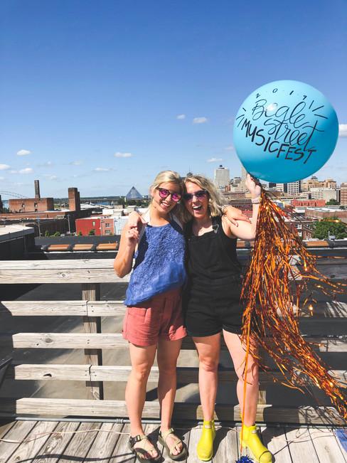 Handlettered Custom Event Balloon 901 Music Fest