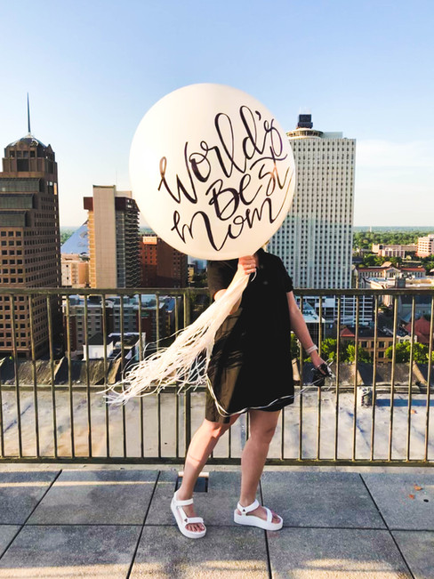 Handlettered Custom Event Balloon Gift Mothers Day