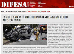 LA MORTE VIAGGIA SU AUTO ELETTRICA (?) ... LE VERITÀ SCOMODE DELLE AUTO ECOLOGICHE sono vere?