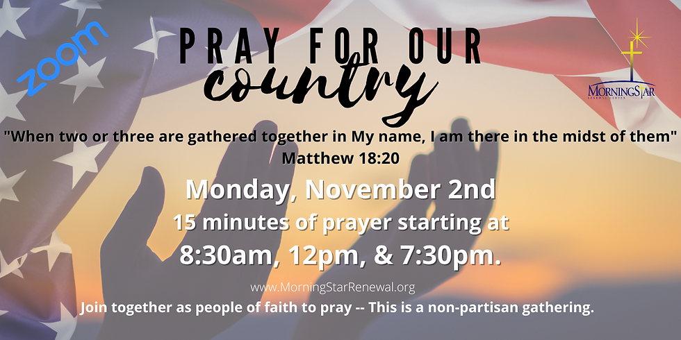 Day of Prayer 8am, 12pm, & 7:30pm