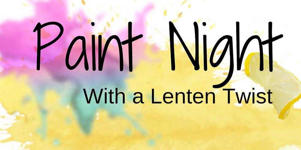 Paint Night with a Lenten Twist!