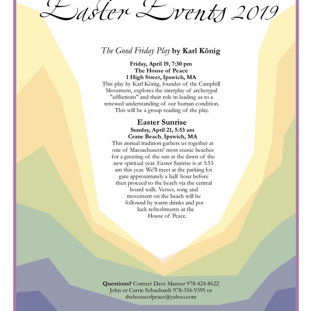 Easter Events 2019